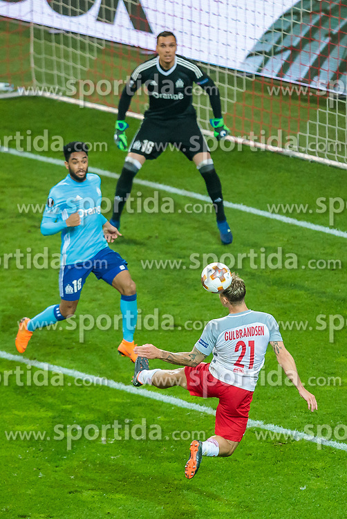 03.05.2018, Red Bull Arena, Salzburg, AUT, UEFA EL, FC Salzburg vs Olympique Marseille, Halbfinale, Rueckspiel, im Bild Fredrik Gulbrandsen (FC Salzburg) // during the UEFA Europa League Semifinal, 2nd Leg Match between FC Salzburg and Olympique Marseille at the Red Bull Arena in Salzburg, Austria on 2018/05/03. EXPA Pictures © 2018, PhotoCredit: EXPA/ JFK