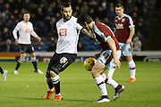 Derby County midfielder Bradley Johnson and Joey Barton during the Sky Bet Championship match between Burnley and Derby County at Turf Moor, Burnley, England on 25 January 2016. Photo by Pete Burns.