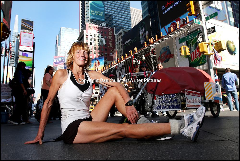 Pembrokeshire round the world runner, Rosie Swales Pope, photographed in New York<br /> <br /> copyright Dan Callister/Writer Pictures<br /> contact +44 (0)20 822 41564<br /> info@writerpictures.com <br /> www.writerpictures.com