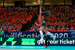 10–01-2020 NED: Olympic qualification tournament women Netherlands - Poland, Apeldoorn<br /> The Dutch volleyball players lost the third group match of the OKT in Apeldoorn 3-1 against Poland / Celeste Plak #4 of Netherlands