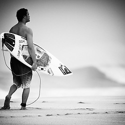 Surfer Jordy Smith on the North Shore of Oahu.