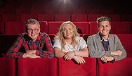 Winning students from left: Graham Wallace; Linzi Wilson and Jordan Phillps in the cinema.