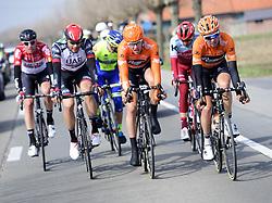 March 25, 2018 - Wevelgem, BELGIQUE - WEVELGEM, BELGIUM - MARCH 25 : GANNA Filippo  (ITA)  of UAE Team Emirates, VAN GOETHEM Brian  (NED)  of Roompot - Nederlandse Loterij, VAN SCHIP Jan Willem  (NED)  of Roompot - Nederlandse Loterij  during the Flanders Classics 80th Gent - Wevelgem - In Flanders Fields cycling race with start in Deinze and finish in Wevelgem on March 25, 2018 in Wevelgem, Belgium, 25/03/18 (Credit Image: © Panoramic via ZUMA Press)