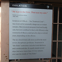 """The 50 year anniversary of the closing of Alcatraz Island ,""""The Rock"""" prison occurs on March 21, 2013. In 1963, the remaining 27 prisoners were loaded onto a ship and ferried off the island. Today, Alcatraz is a worldwide tourist destination and a National Park, as seen in these photos taken on Sunday, March 17, 2013. (AP Photo/Alex Menendez)"""