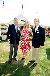 Left to right, ARNAUD & CARLA BAMBERGER he is MD of Cartier and the French Ambassador MAURICE GOURDAULT-MONTAGNE at the Cartier International Polo at Guards Polo Club, Windsor Great Park on 27th July 2008.<br /> <br /> NON EXCLUSIVE - WORLD RIGHTS
