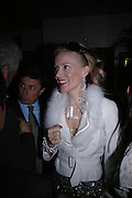 Daphne Guinness. Dinner at San Lorenzo, Beauchamp Place after Tod's hosts Book signing with Dante Ferretti celebrating the launch of 'Ferretti,- The art of production design' by Dante Ferretti. 19 April 2005.  ONE TIME USE ONLY - DO NOT ARCHIVE  © Copyright Photograph by Dafydd Jones 66 Stockwell Park Rd. London SW9 0DA Tel 020 7733 0108 www.dafjones.com