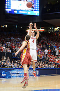 DAYTON, OH - MARCH 24: Aaron Craft #4 of the Ohio State Buckeyes shoots a game-winning three point basket against Georges Niang #31 of the Iowa State Cyclones late in the second half during the third round of the 2013 NCAA Men's Basketball Tournament at UD Arena on March 24, 2013 in Dayton, Ohio. (Photo by Jason Miller/Getty Images)