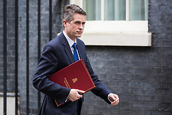 London, UK. 29th January, 2019. Gavin Williamson MP, Secretary of State for Defence, leaves 10 Downing Street following a Cabinet meeting on the day of votes in the House of Commons on amendments to Prime Minister Theresa May's final Brexit withdrawal agreement which could determine the content of the next stage of negotiations with the European Union.