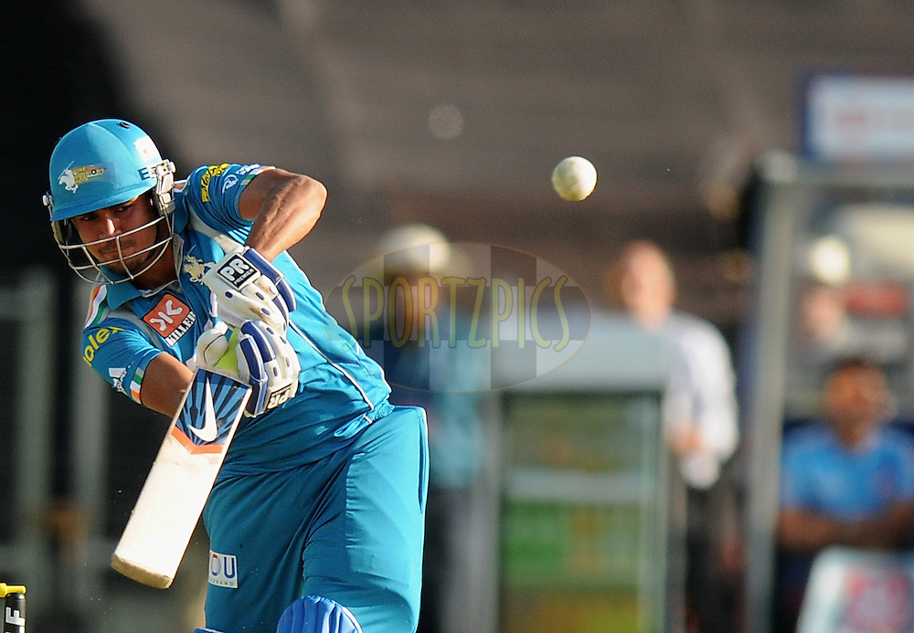 Manish Pandey of Pune Warriors India bats during match 31 of the Indian Premier League ( IPL) 2012  between The Pune Warriors India and the Delhi Daredevils held at the Subrata Roy Sahara Stadium, Pune on the 24th April 2012..Photo by Pal Pillai/IPL/SPORTZPICS.
