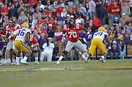 Ole Miss offensive lineman Emmanuel McCray (70) vs. LSU at Tiger Stadium in Baton Rouge, La. on Saturday, November 17, 2012. LSU won 41-35.....