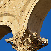 Column Capital at Peristyle in Split, Croatia<br />