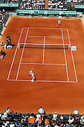Roland Garros 2011. Paris, France. May 28th 2011..American player Mardy FISH (bottom) against Gilles SIMON
