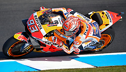 October 26, 2018 - Melbourne, Victoria, Australia - Spanish rider Marc Marquez (#93) of Repsol Honda Team in action during day 2 of the 2018 Australian MotoGP held at Phillip Island, Australia. (Credit Image: © Theo Karanikos/ZUMA Wire)