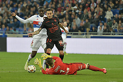 May 20, 2017 - Decines Charpieu - Parc Olympiq, France - Anthony Lopes et Mouctar Diakhaby (lyon) vs Anastasios Donis  (Credit Image: © Panoramic via ZUMA Press)