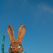 Clan - The Interpreter rabbit head at AfrikaBurn 2014, Tankwa Karoo desert, South Africa