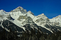 The Mountain Peaks near Canmore, Alberta, on a beautiful winter day...©2009, Sean Phillips.http://www.Sean-Phillips.com