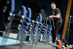 Gregor Krusic during Day 3 of the tennis matches between Slovenia and Monaco of 2017 Davis Cup Europe/Africa Zone Group II, on February 5, 2017 in Tennis Arena Tabor, Maribor Slovenia. Photo by Vid Ponikvar / Sportida