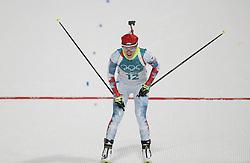 PYEONGCHANG, Feb. 10, 2018  Czech Republic's Veronika Vitkova competes during the women's 7.5 km sprint biathlon event on the 2018 Pyeongchang Winter Olympic Games at Alpensia Biathlong Centre, PyeongChang, South Korea, Feb. 10, 2018. Veronika Vitkova took the bronze medal in a time of 21:32.0. (Credit Image: © Bai Xuefei/Xinhua via ZUMA Wire)