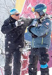 17.01.2017, Hahnenkamm, Kitzbühel, AUT, FIS Weltcup Ski Alpin, Kitzbuehel, Abfahrt, Herren, Streckenbesichtigung, im Bild Sasha Rearick (US Trainer), Markus Walder (FIS Renndirektor) // US coach Sasha Rearick and FIS racedirector Markus Walder during the course inspection for the men's downhill of FIS Ski Alpine World Cup at the Hahnenkamm in Kitzbühel, Austria on 2017/01/17. EXPA Pictures © 2017, PhotoCredit: EXPA/ Johann Groder