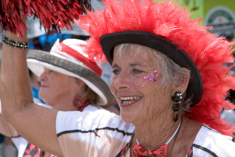 Local resident of St. John participating in Carnival Parade, Virgin Islands.