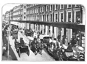 Traffic in Westbourne Grove, London, outside Whiteley's department store, c1910.