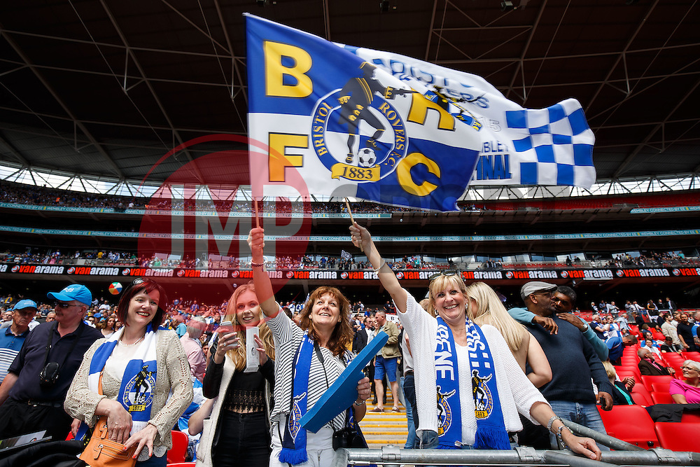Bristol Rovers fans - Photo mandatory by-line: Rogan Thomson/JMP - 07966 386802 - 17/05/2015 - SPORT - FOOTBALL - London, England - Wembley Stadium - Bristol Rovers v Frimsby Town - Vanarama Conference Premier Play-off Final.