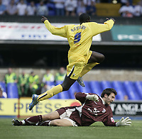 Patrick Agyemang scores.<br />