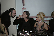 David Gest, Rossano Rubicondi and Ivana Trump, Andy and Patti Wong's Chinese New Year of the Pig party. Madame Tussauds. ( Dress Burlesque, Debauched or Hollywood Black Tie. ) London. 27 January 2007.  -DO NOT ARCHIVE-© Copyright Photograph by Dafydd Jones. 248 Clapham Rd. London SW9 0PZ. Tel 0207 820 0771. www.dafjones.com.