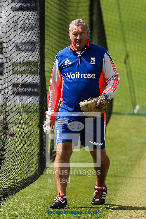 Assistant England head coach Paul Farbrace during the England Cricket Practice before the first Test Match of the Investec Ashes Series at Sophia Gardens, Cardiff<br /> Picture by Andy Kearns/Focus Images Ltd 0781 864 4264<br /> 07/07/2015