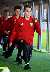 CARDIFF, WALES - Tuesday, November 13, 2018: Wales' Harry Wilson during a training session at the Vale Resort ahead of the UEFA Nations League Group Stage League B Group 4 match between Wales and Denmark. (Pic by David Rawcliffe/Propaganda)