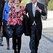 BEL/Brussel/20101120 - Huwelijk prinses Annemarie de Bourbon de Parme-Gualtherie van Weezel en bruidegom Carlos de Borbon de Parme, Prinses Margriet en partner Mr. Pieter van Vollenhoven