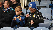 One young fan getting in a mess during the Sky Bet League 2 match between Portsmouth and Mansfield Town at Fratton Park, Portsmouth, England on 24 October 2015. Photo by Michael Hulf.