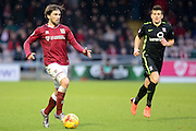 Northampton Town Striker Ricky Holmes looks for options during the Sky Bet League 2 match between Northampton Town and York City at Sixfields Stadium, Northampton, England on 6 February 2016. Photo by Dennis Goodwin.