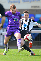 ANDY WHITE ALTRINCHAM FC BATTLES WITH GRANTHAM DANNY MEADOWS,   Grantham Town v Altrincham Evostik League Premier Division Northern, South Kesteven Stadium, Score 0-2, Altrincham Promoted and Winners of the League Saturday 21st April 2018.