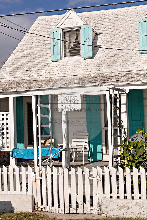 Old clapboard Loyalist Cottage in Dunmore Town, Harbour Island, The Bahamas