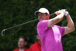 June 22, 2018 - Cromwell, Connecticut, U.S. - Rory McIlroy tees off the 9th hole during the second round of the Travelers Championship at TPC River Highlands. (Credit Image: © Debby Wong via ZUMA Wire)