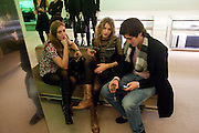 ANOUCHKA BECKSWITH; ROSE LANGLEY; OLLIE HADEN-PATON, Prada presents a book documenting the company's diverse projects in fashion, architecture, film and art. Prada Shop. 16/18 Old Bond St. London W1. *** Local Caption *** -DO NOT ARCHIVE-© Copyright Photograph by Dafydd Jones. 248 Clapham Rd. London SW9 0PZ. Tel 0207 820 0771. www.dafjones.com.<br /> ANOUCHKA BECKSWITH; ROSE LANGLEY; OLLIE HADEN-PATON, Prada presents a book documenting the company's diverse projects in fashion, architecture, film and art. Prada Shop. 16/18 Old Bond St. London W1.