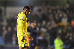 Cristian Montano of Bristol Rovers cuts a dejected figure at the end of the game - Mandatory by-line: Dougie Allward/JMP - 12/11/2016 - FOOTBALL - The Den - London, England - Millwall v Bristol Rovers - Sky Bet League One