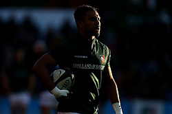 Telusa Veainu of Leicester Tigers warms up - Mandatory by-line: Robbie Stephenson/JMP - 23/10/2016 - RUGBY - Welford Road Stadium - Leicester, England - Leicester Tigers v Racing 92 - European Champions Cup