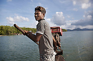 A moken captain on his boat, Koh Lao, Ranong province, southern Thailand.