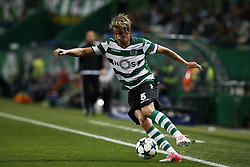 November 22, 2017 - Lisbon, Portugal - Sporting's defender Fabio Coentrao in action during Champions League 2017/18 match between Sporting CP vs Olympiakos Piraeus, in Lisbon, on November 22, 2017. (Credit Image: © Carlos Palma/NurPhoto via ZUMA Press)