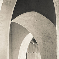 Old wall arches in Rabat, Morocco