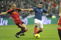 FOOTBALL - INTERNATIONAL FRIENDLY GAMES 2011/2012 - FRANCE v BELGIUM - 15/11/2011 - PHOTO JEAN MARIE HERVIO / DPPI - MARVIN MARTIN (FRA) / TIMMY SIMONS (BEL)