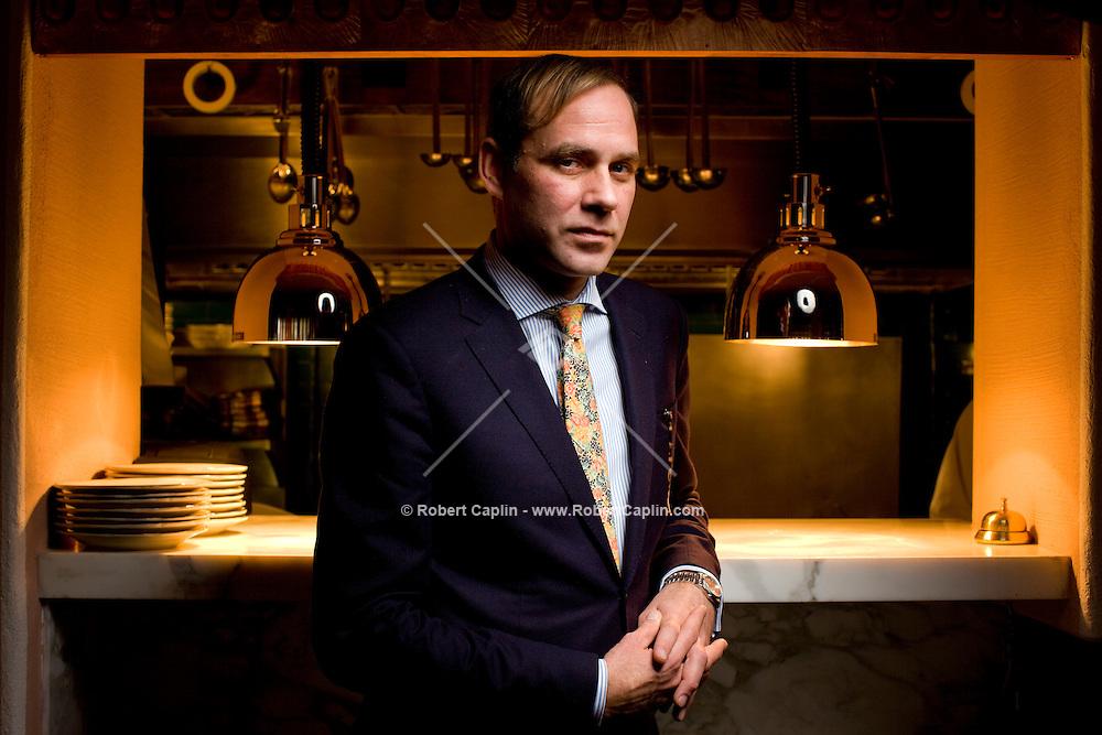 DJ and restaurant owner Paul Sevigny of Kenmare Restaurant in New York City. ..Photo by Robert Caplin