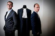 Portret van advocaat Sander Janssen  Samen met Robert Malewicz vormen zij het nieuwe advocatenduo va