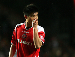 LONDON, ENGLAND - Friday, March 21, 2008: Charlton Athletic's Zheng Zhi in action against West Bromwich Albion during the League Championship match at the Valley. (Photo by Chris Ratcliffe/Propaganda)