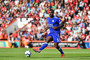 Leicester City Defender, Wes Morgan (5) during the Premier League match between Bournemouth and Leicester City at the Vitality Stadium, Bournemouth, England on 15 September 2018.