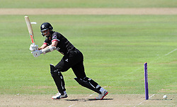 Somerset's Tom Cooper flicks the ball - Photo mandatory by-line: Harry Trump/JMP - Mobile: 07966 386802 - 31/07/15 - SPORT - CRICKET - Somerset v Worcestershire- Royal London One Day Cup - The County Ground, Taunton, England.