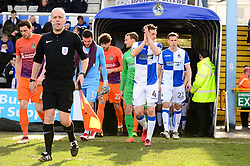 Players walk out the tunnel - Mandatory by-line: Dougie Allward/JMP - 10/03/2018 - FOOTBALL - Memorial Stadium - Bristol, England - Bristol Rovers v Northampton Town - Sky Bet League One