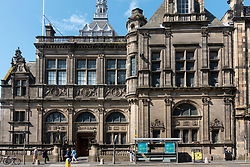 Exterior of Central Library in Edinburgh Old Town, Scotland, UK